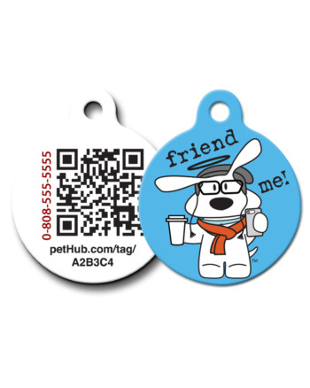 Pet ID: Friend Me QR Code Tag by PetHub