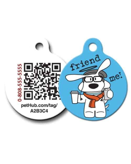 Pet ID: Friend Me QR Code Tag by PetHub