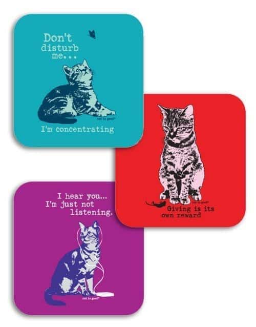 Coaster Set: Cats 2