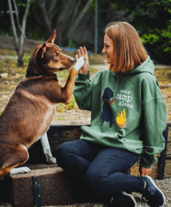 never camp alone with dogs