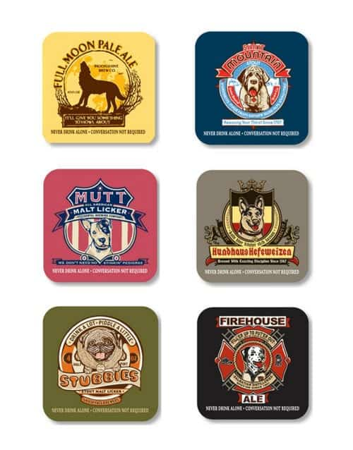 Coaster Set: Never Drink Alone