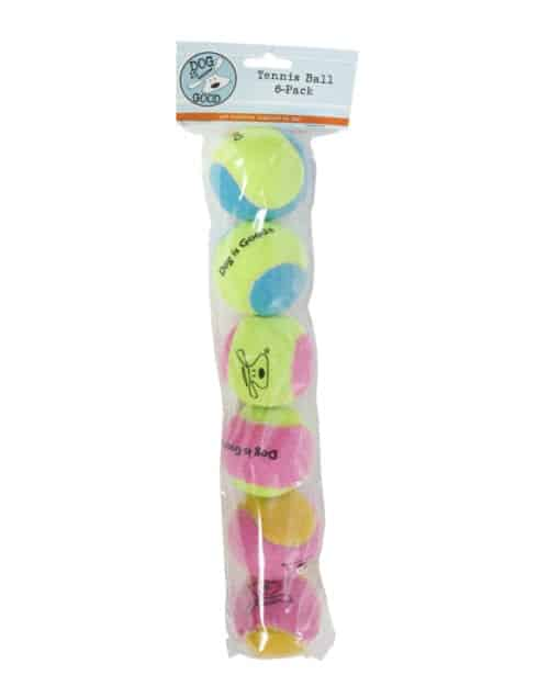 Toy: DIG Tennis Ball Multi Color 6-Pack