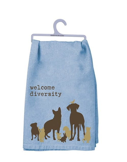Dish Towel: Welcome Diversity