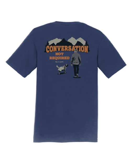 T-shirt: Conversation Not Required