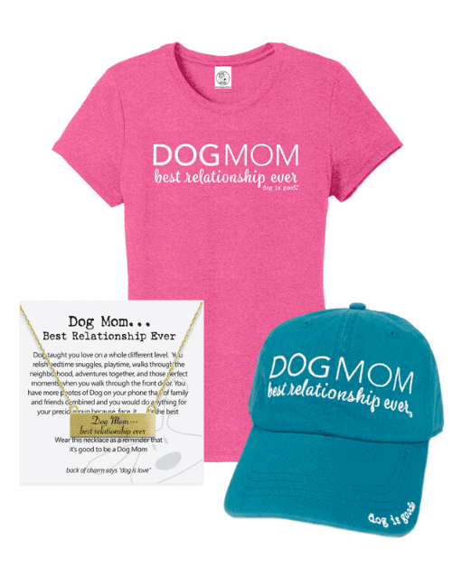 Gift Set: Dog Mom (fucshia)