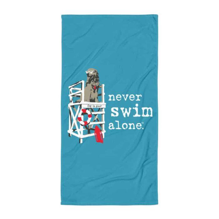 Beach Towel: Never Swim Alone