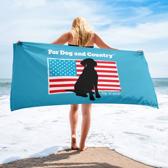 Beach Towel: For Dog and Country
