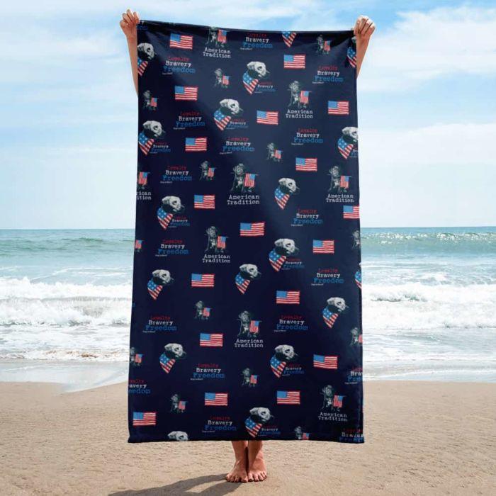 Beach Towel: Freedom Dog