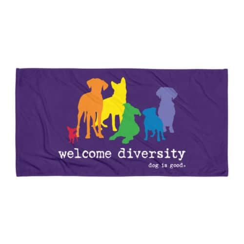 Beach Towel: Welcome Diversity Pride