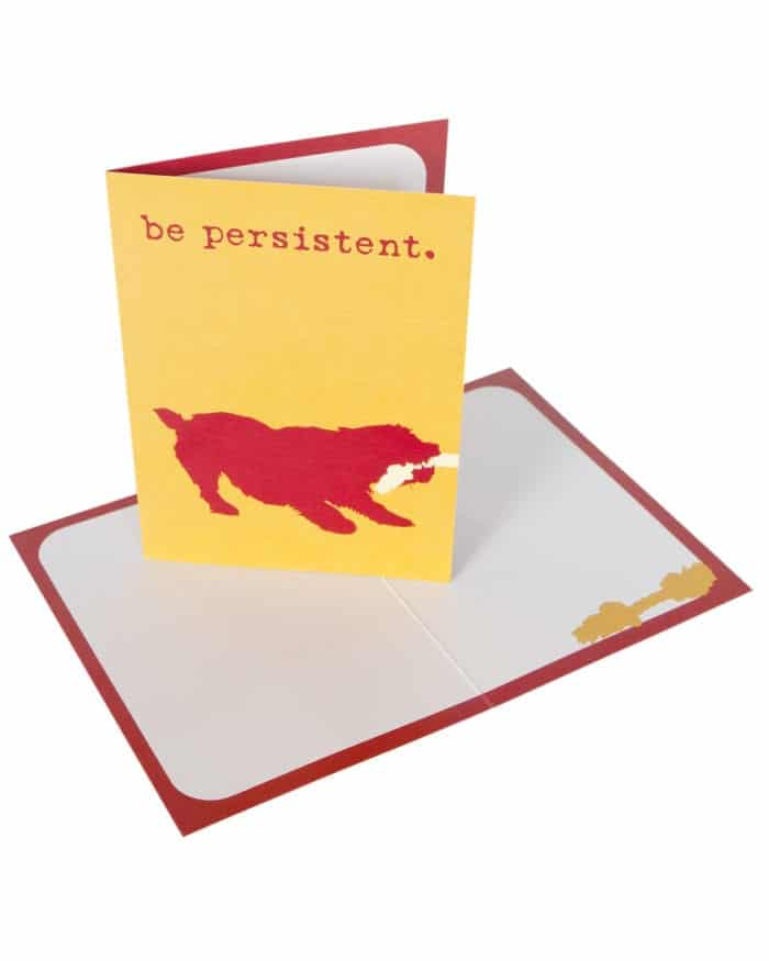 Greeting Card: Be Persistent