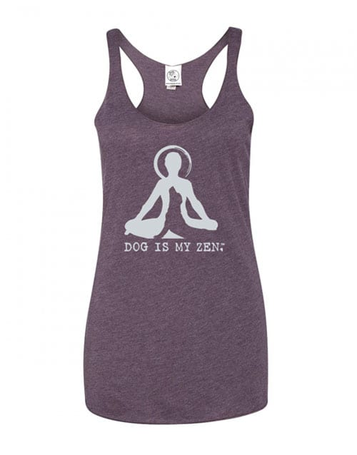 Tank: Dog is My Zen (women's, purple)