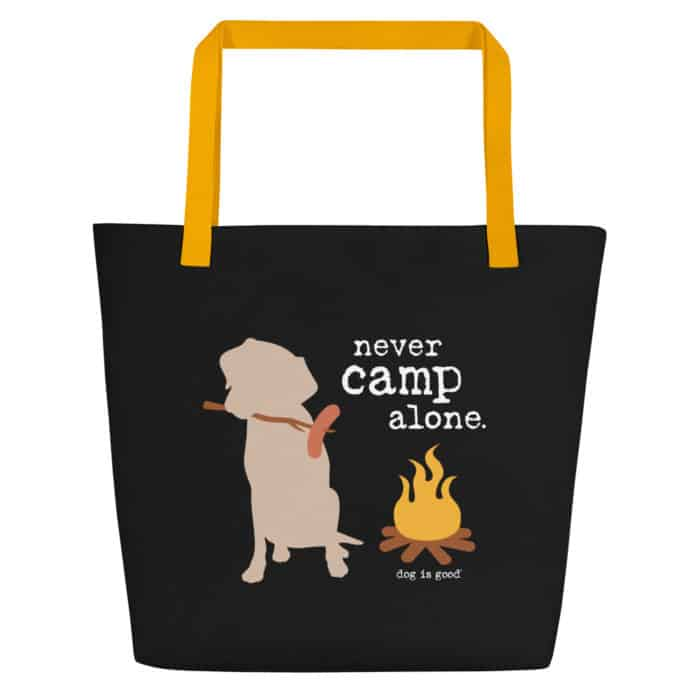 Beach Tote: Never Camp Alone