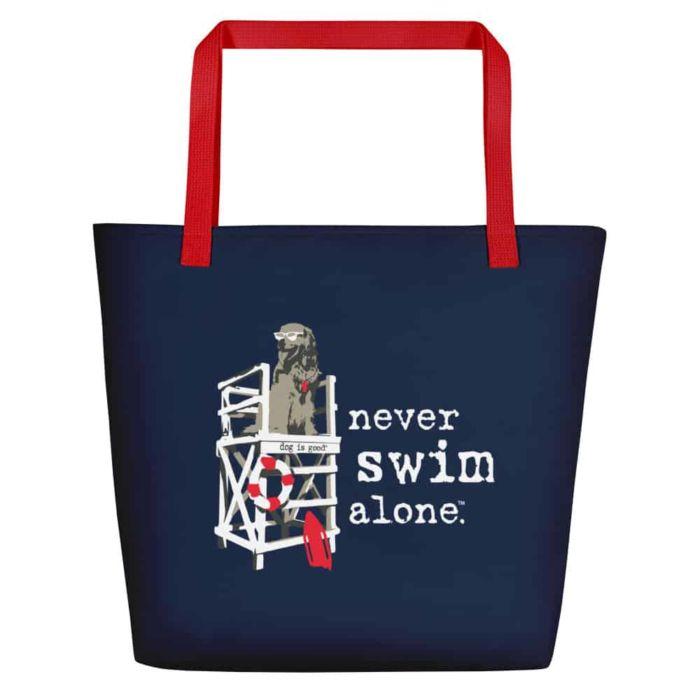Beach Tote: Never Swim Alone