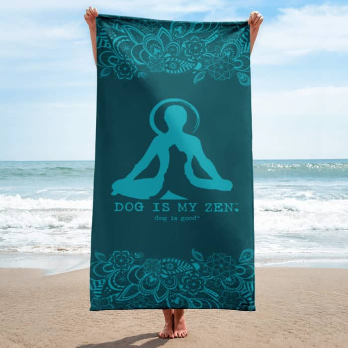 Beach Towel: Dog is My Zen