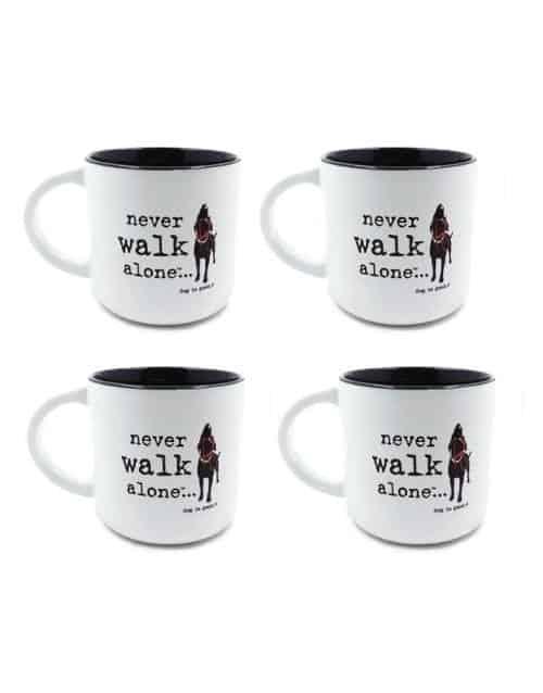 Mug: Never Walk Alone Set of 4