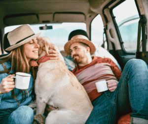 Road-Tripping with a dog, people and coffee
