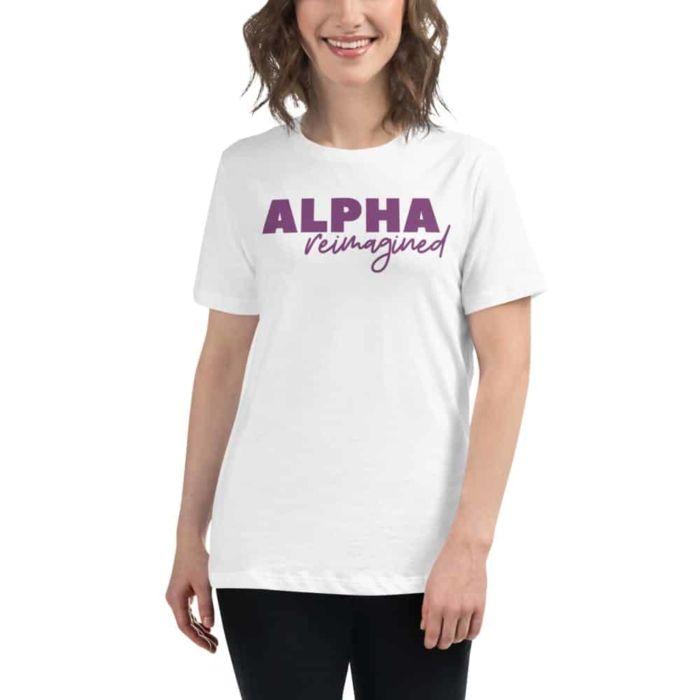 T-shirt: Alpha Reimagined (White)