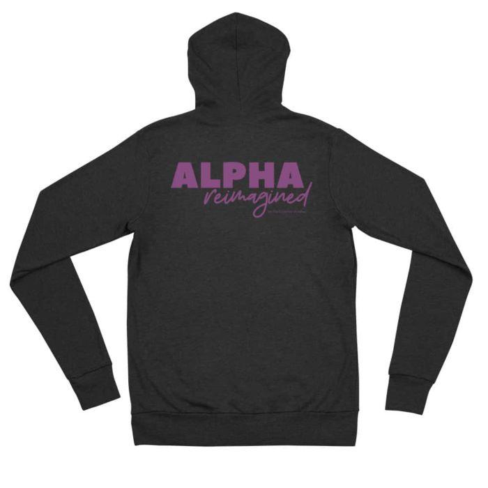 Zip Hoodie: Alpha Reimagined (Black)