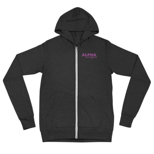 Zip Hoodie: Alpha Reimagined (Black)