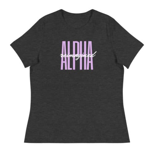 T-shirt: Alpha Reimagined Signature (Charcoal Grey)