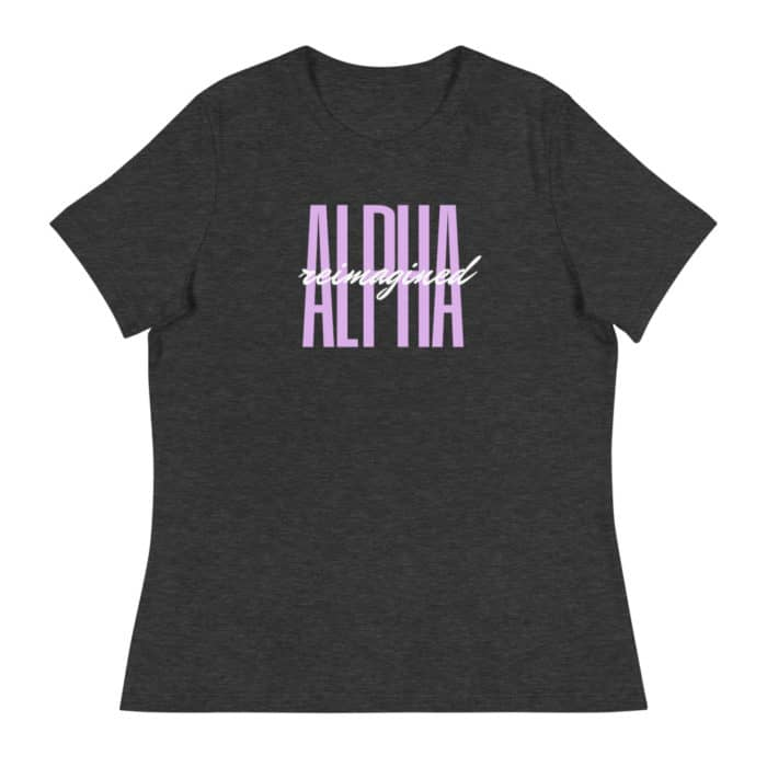 T-shirt: Alpha Reimagined Signature (Charcoal Grey)