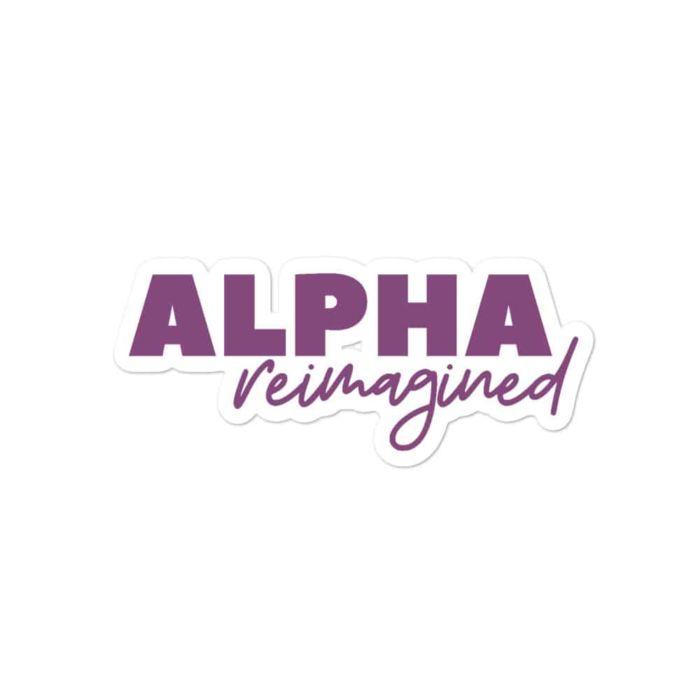 Sticker: Alpha Reimagined