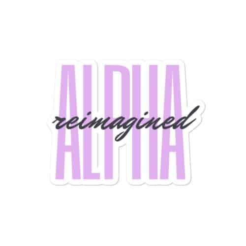 Sticker: Alpha Reimagined (Signature)