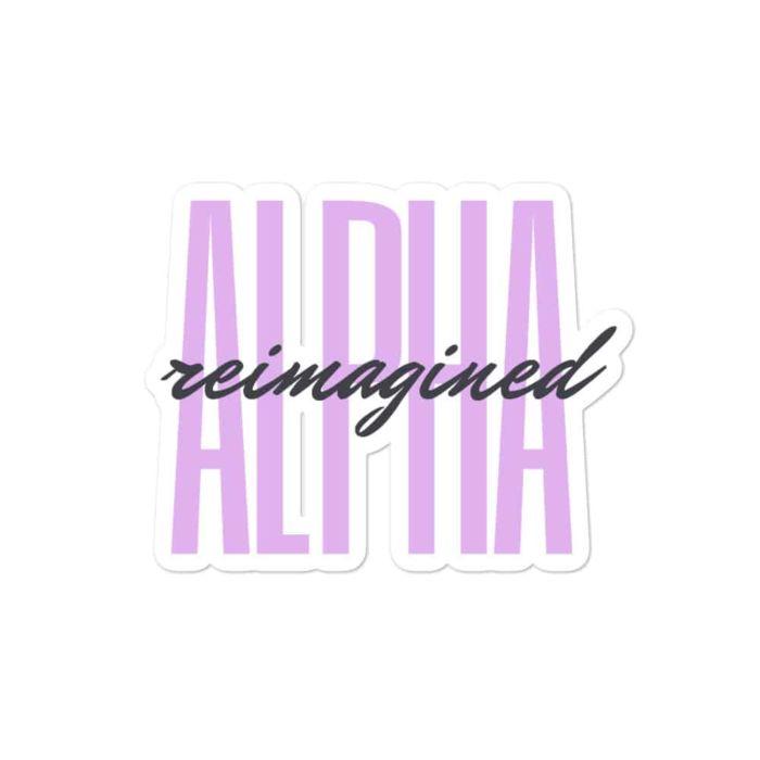 Sticker: Alpha Reimagined (Signature)