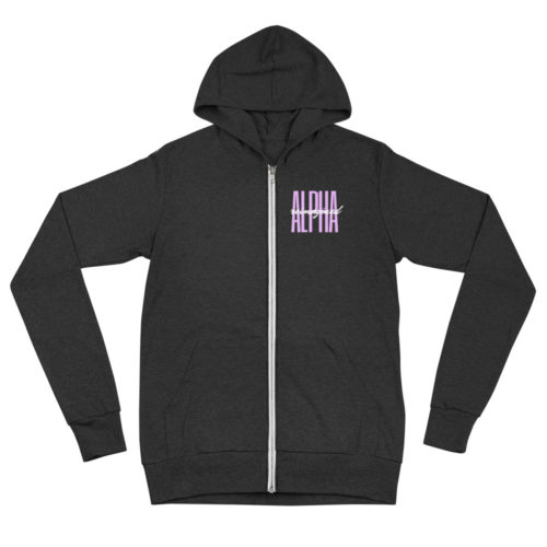 Zip Hoodie: Alpha Reimagined Signature (Black)