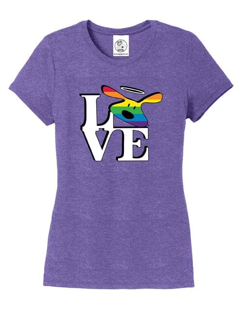 T-shirt: Love Bolo (purple, women's)