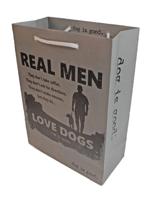 Gift Bag: Real Men Love Dogs