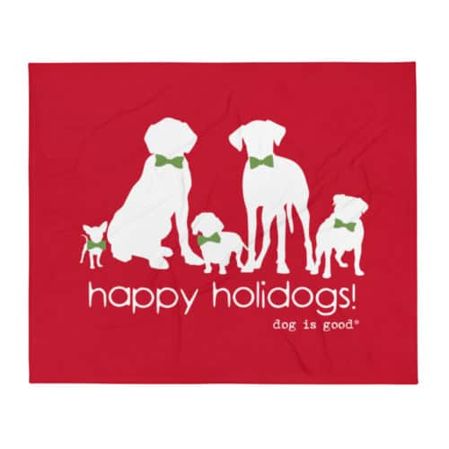 Throw Blanket: Happy Holidogs