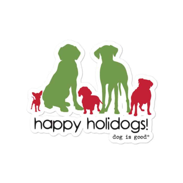 Sticker: Happy Holidogs
