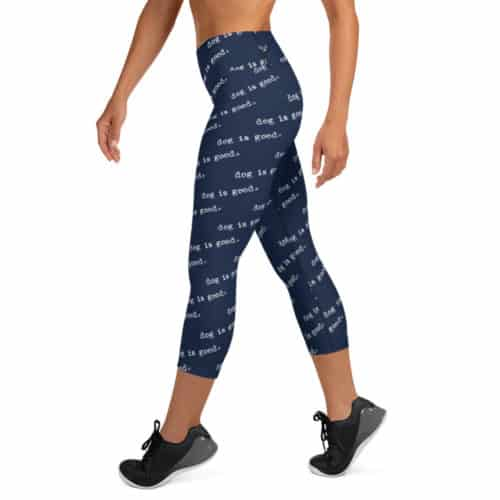 Leggings: Dog is Good (Navy, Capri)