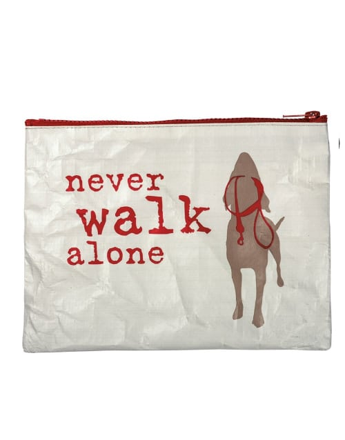 Zipper Pouch: Never Walk Alone