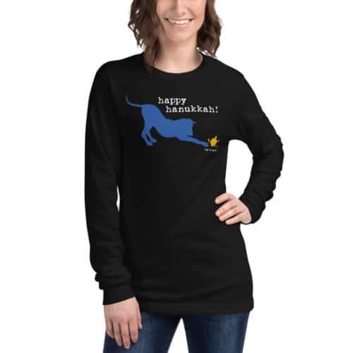 Long Sleeve Tee: Happy Hanukkah (unisex)