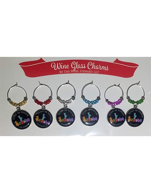Wine Glass Charm Set - Drink Up, Bitches