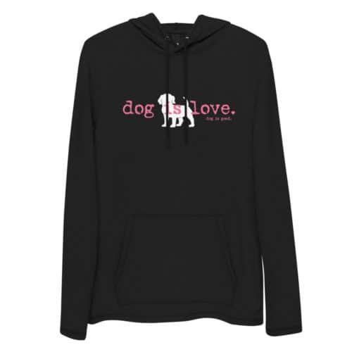 Tunic Hoodie: Dog is Love (Women's)
