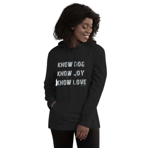 Tunic Hoodie: Know Dog, Know Love (Women's)