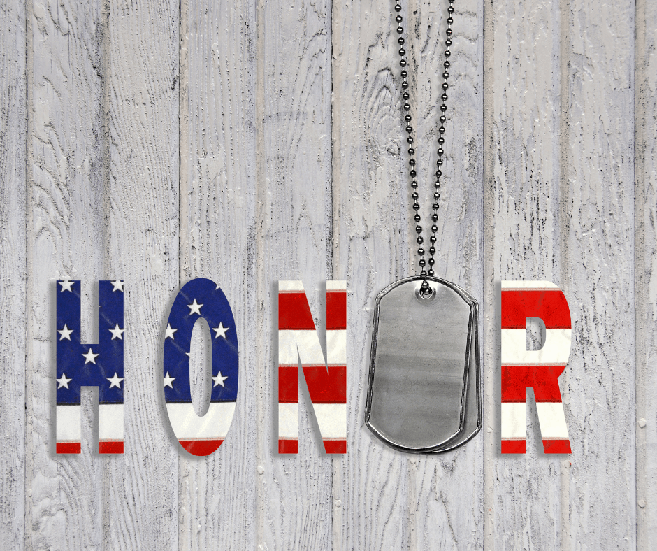Honor with dog tag