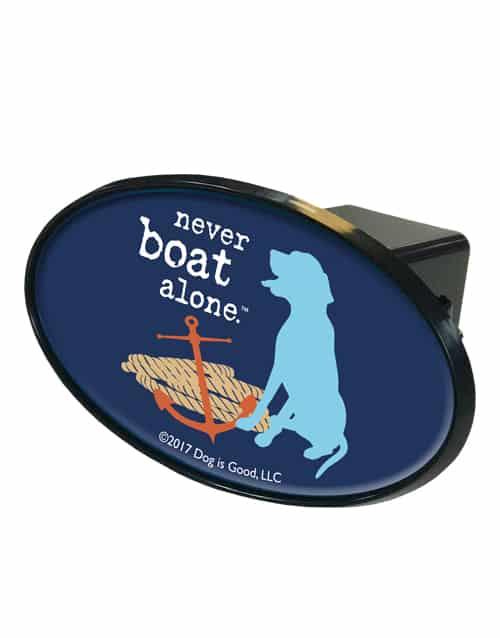Trailer Hitch Cover: Never Boat Alone