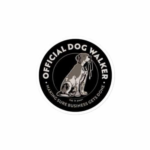 Sticker: Official Dog Walker