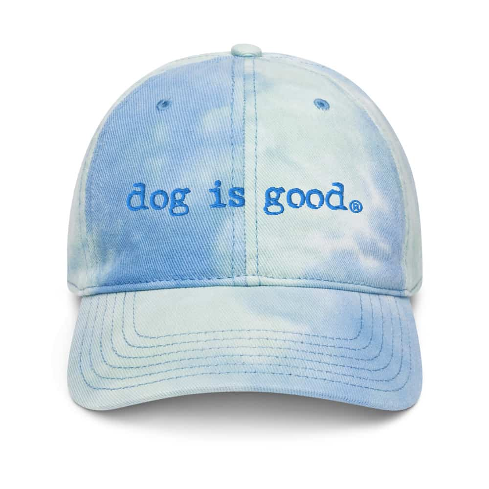 Hat: Dog is Good Signature Tie Dye (Blue/Green)