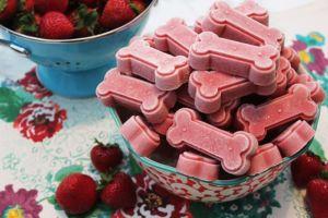 strawberry dog treats