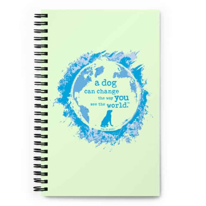 Notebook: A Dog Can Change the Way You See the World (Light Green)