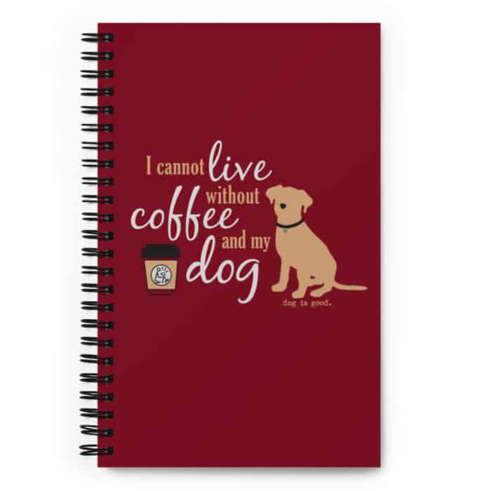 Notebook: Coffee and My Dog (Red)