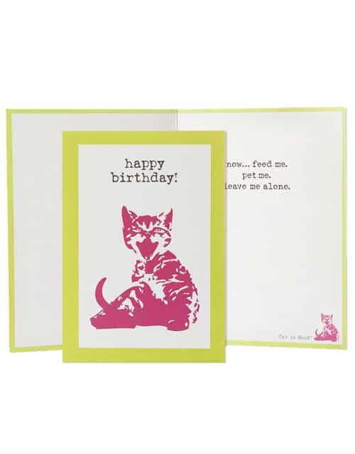 Birthday, Feed Me Pet Me (Cat)