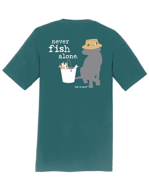 Never Fish Alone (marine green)