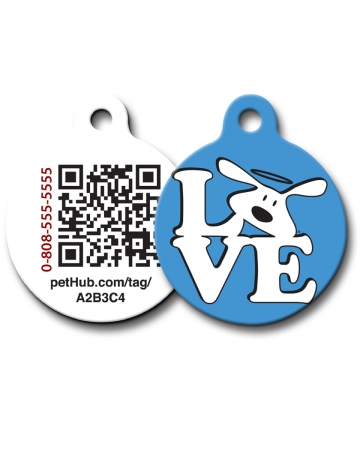 Pet ID: Love Dog QR Code Tag by PetHub
