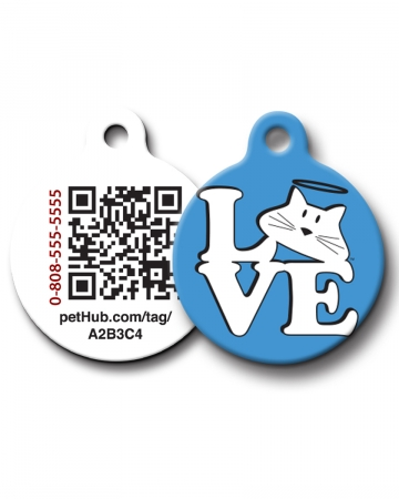 Pet ID: Love Cat QR Code Tag by PetHub